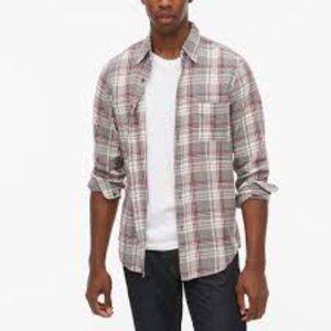 J. Crew Button-Up Men's Plaid Long Sleeve Shirt LT